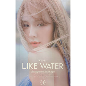 WENDY (RED VELVET) 1ST MINI ALBUM 'LIKE WATER' POSTER ONLY