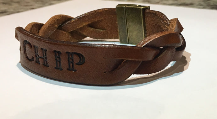 Personalized Leather Mystery Braided Bracelet