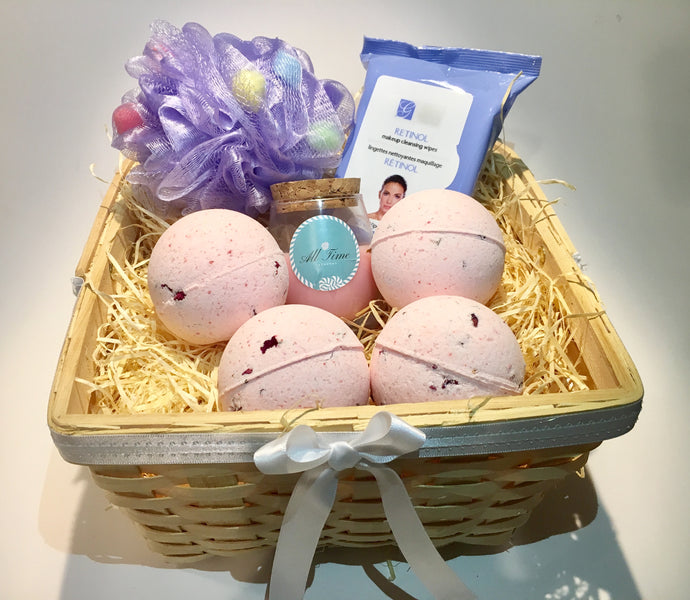 Bath Bomb Gift Basket For Her