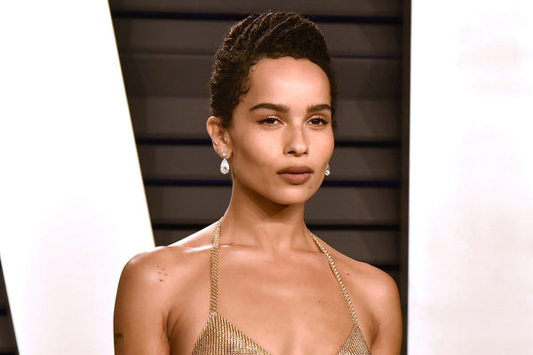 Zoë Kravitz slayed the look with her 18K Gold Bra at Oscars party