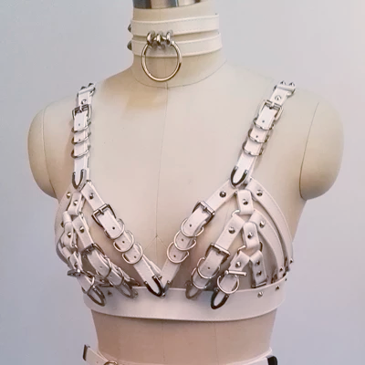 Heavy Gothic Leather Harness