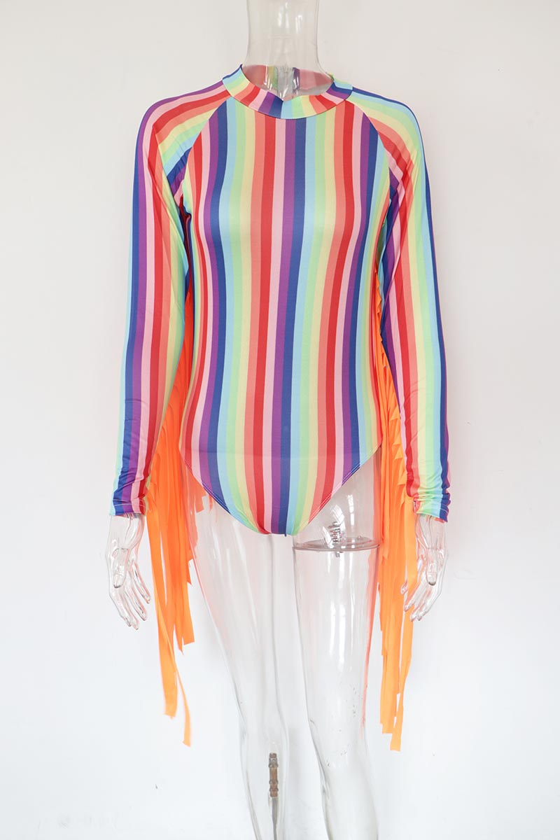 Striped Rainbow Bodysuit