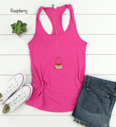 Everyday Racer Back - Raspberry