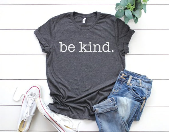 Be Kind Unisex Tee - Heather Grey