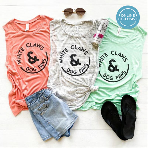 White Claws & Dog Paws Tank