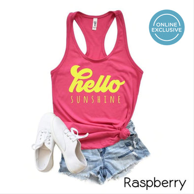 Hello Sunshine Tank - Raspberry