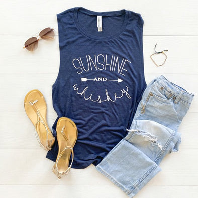Sunshine and Whiskey Muscle Tank