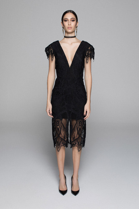 TRIBAL LACE DRESS - BLACK - $299 ALMOST SOLD OUT