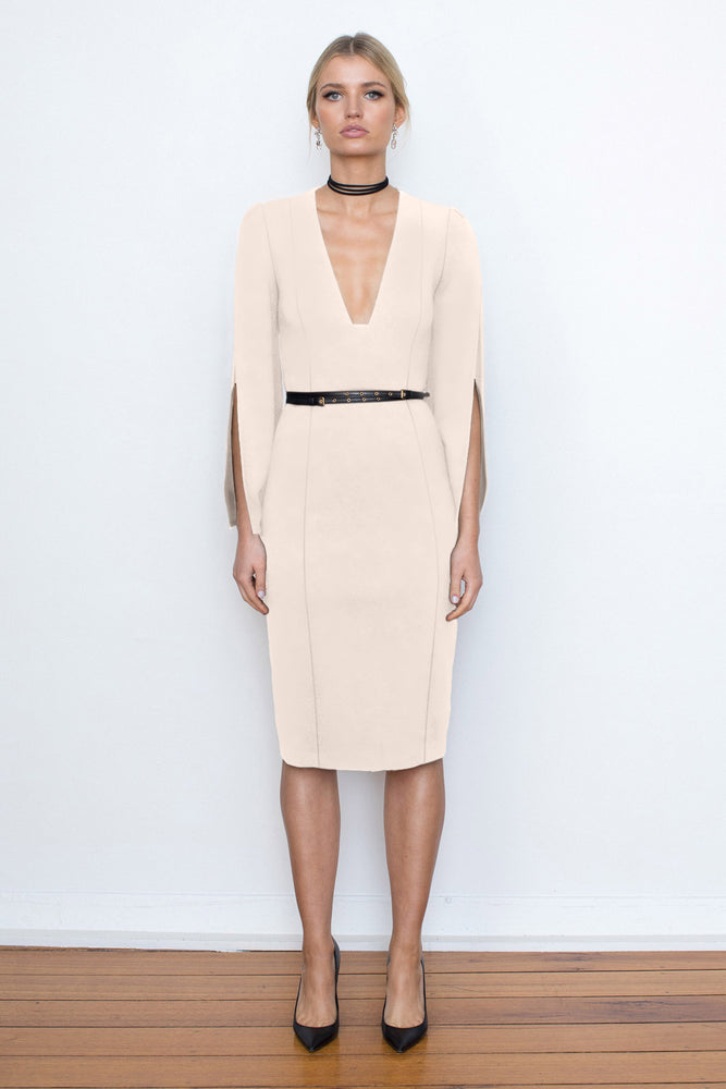 She Evolves Body Con Dress - Ballet Pink - NEW ARRIVAL