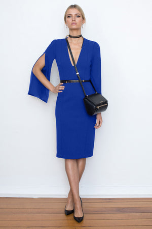 SHE EVOLVES SIGNATURE DRESS  - ELECTRIC BLUE