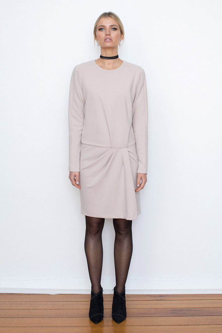 TALIA CREPE DRESS NUDE