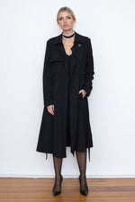 TRAVELLER SOFT TRENCH - BLACK