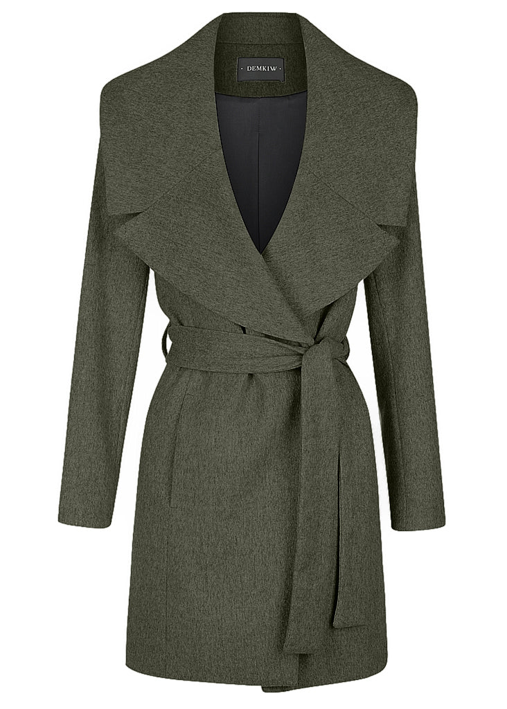 3 POINT CASHMERE COAT KHAKI
