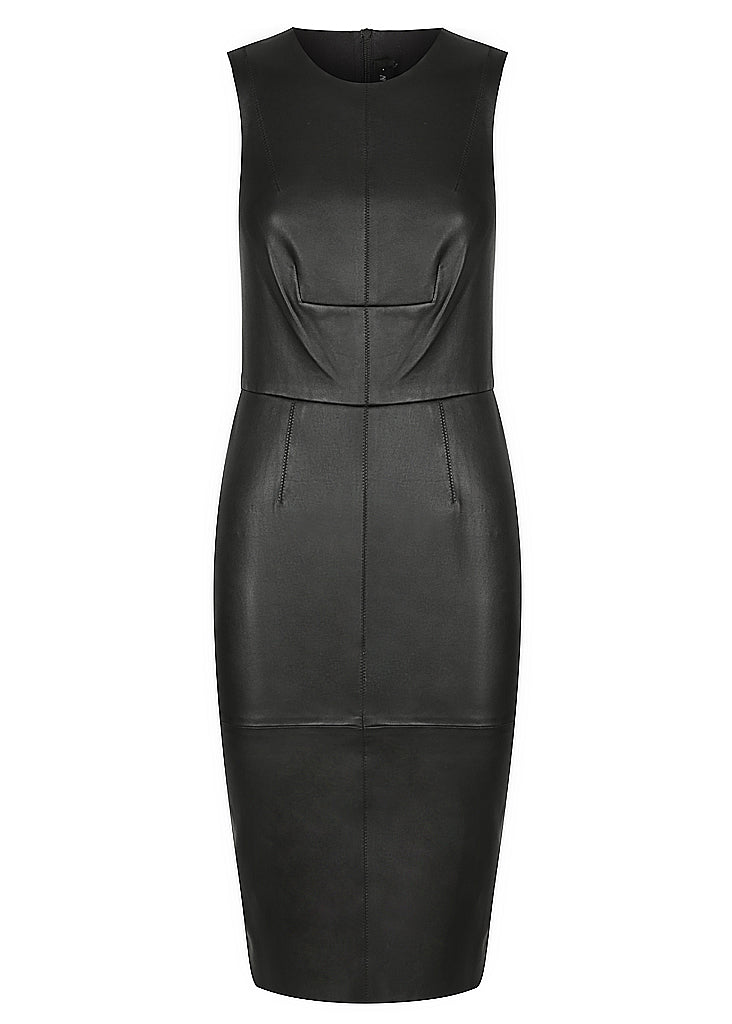 SIGNATURE STRETCH LEATHER DRESS
