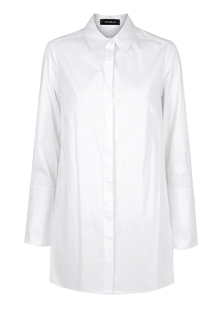 STRETCH POPLIN CROSS BACK SHIRT