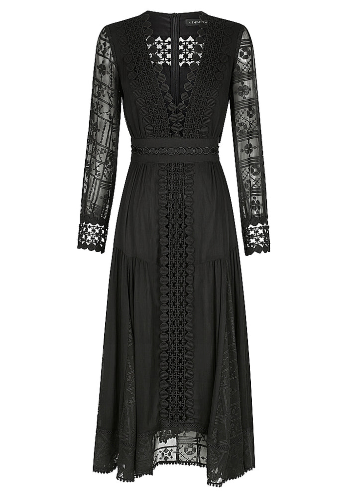 SILK ODESSA DRESS - BLACK