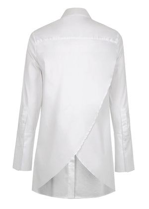 Cross Back Stretch Shirt - White