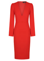 SHE EVOLVES SIGNATURE DRESS  - RED