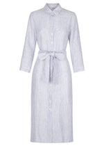 Linen Shirt Dress Lover - Navy Stripe