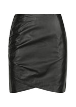 Classic Curve Mini Leather Skirt - DEMKIW