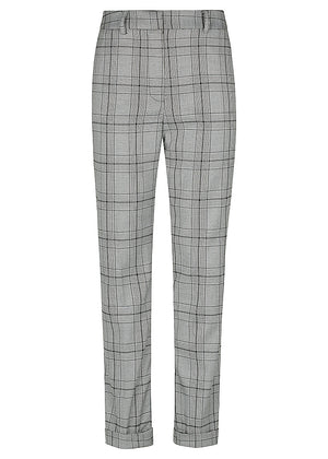 Man Style High Rise Trouser - Check Grey