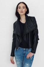 80s Leather Jacket - WHITE SUEDE - BEST SELLER