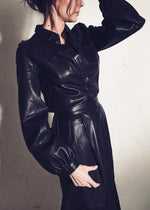 Leather Curve Blouse - PRE-ORDER SEPTEMBER