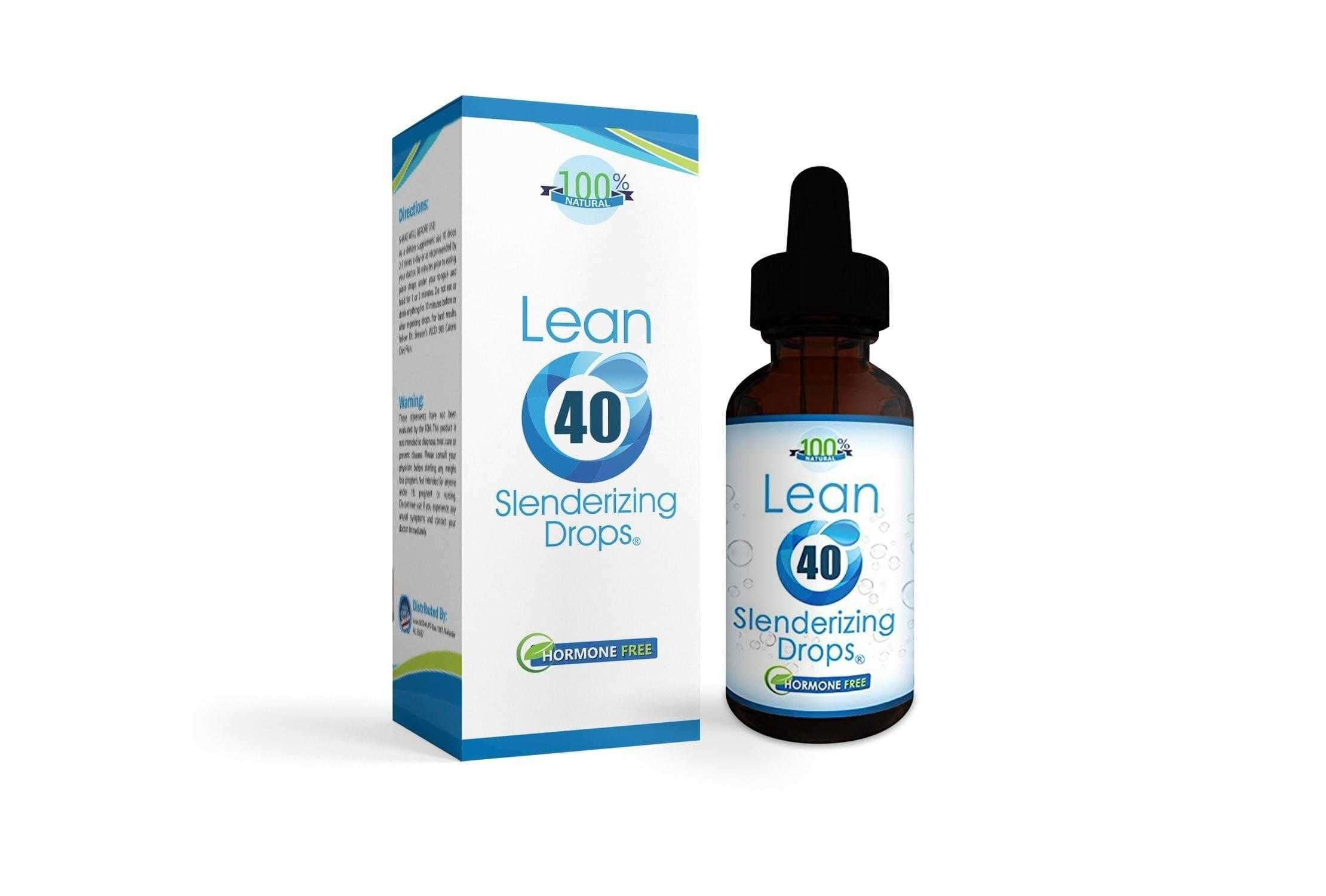 Hormone Free HCG Diet Drops For Weight Loss - 40 Day Program - Lean 40