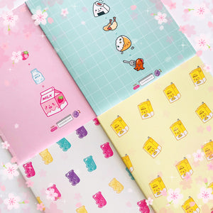Cute Food Full Sized Notebooks
