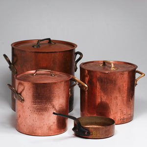 Copper cookware retinning before.