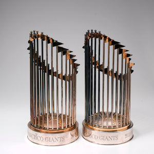San Francisco Giants World Championship Trophy before repair and polishing.