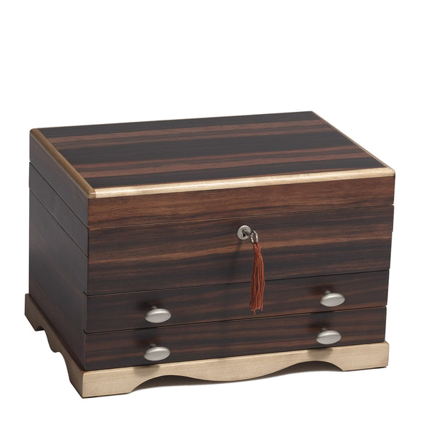 The Adalyn jewelry box provides a compact design offering optimum storage without taking up a lot of space.