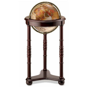 Lancaster Raised Relief Floor Standing World Globe