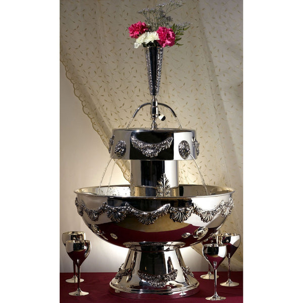 Silver Plated 9 Gallon Punch Fountain