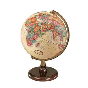 Quincy World Desk Globe Walnut Finish