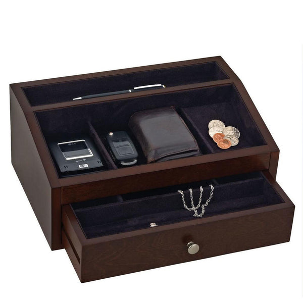 Men's Wood Jewelry Valet
