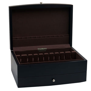 Black Silverware Chest