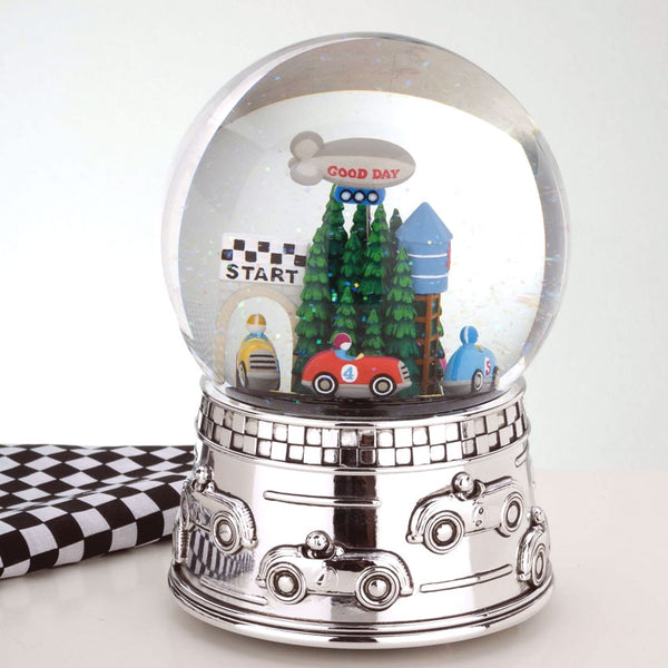 Race Car Water Globe Plays Star Spangled Banner