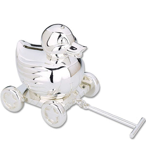 Something Duckie Silver Plated Baby Bank