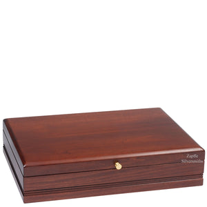 "Silverware chest measures 15 3/4"" x 11 3/4"" x 3 1/2"" high."