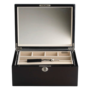 Latte II Locking Jewelry Box