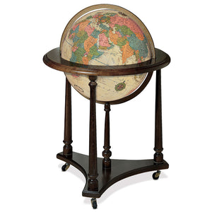 Lafayette Floor Standing World Globe Antique Ocean
