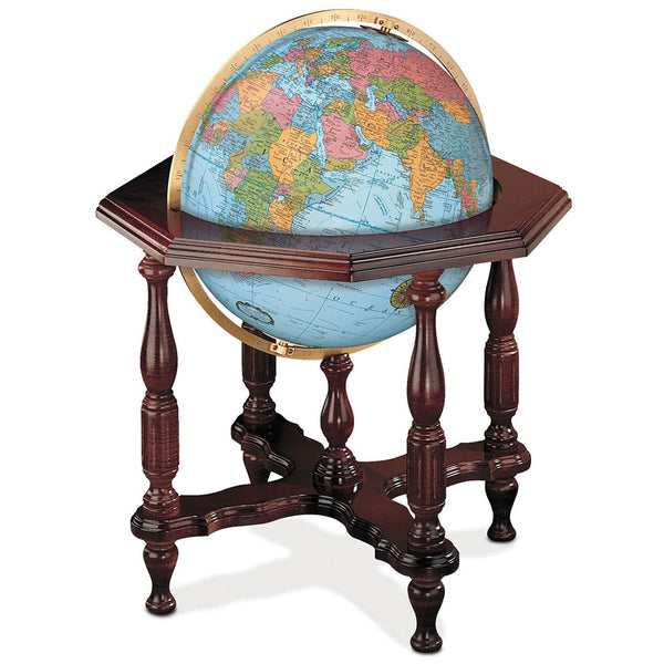 Statesman Floor Standing World Globe Blue Ocean