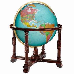 Diplomat Floor Standing World Globe Blue Ocean
