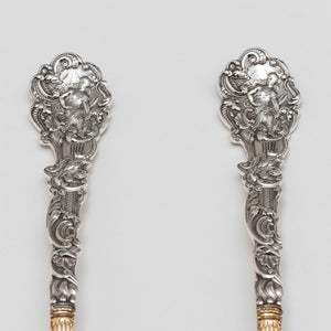Gorham Versailles Sterling Silver Salad Set Handle detail
