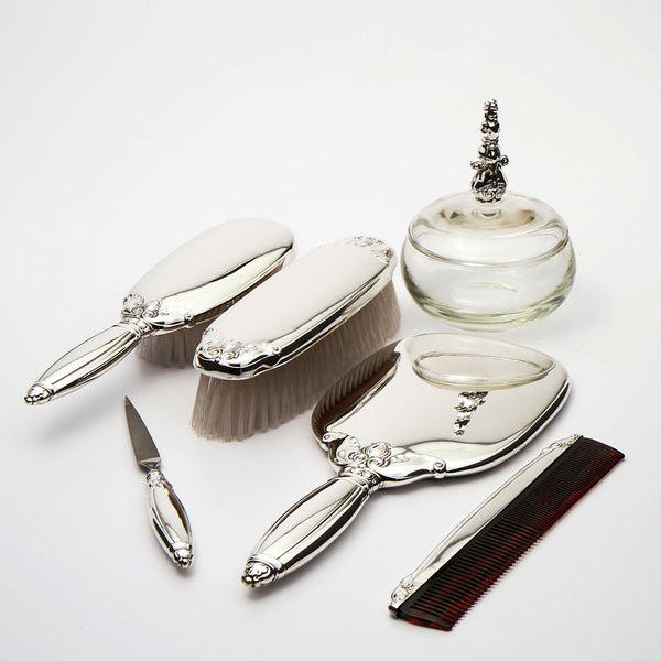 Gorham Royal Danish six piece sterling silver vanity set.