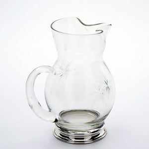 Wallace Glass Cream Pitcher with Sterling Base