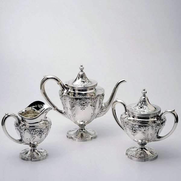 3 piece sterling silver tea set