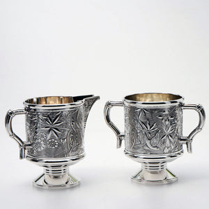 Pairpoint Silver Plated Sugar and Creamer