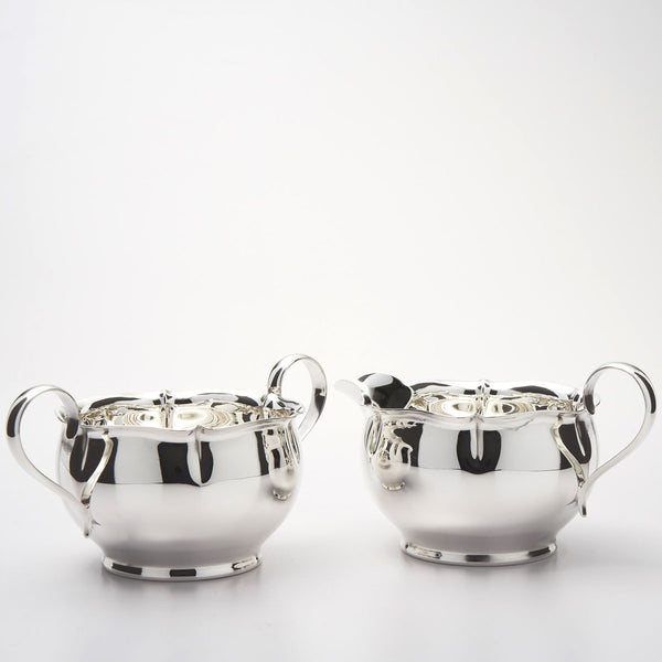 Sterling silver sugar and creamer